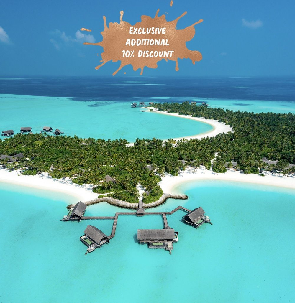 ONE&ONLY REETHI RAH from US$ 8,350.00 -  PACKAGE INCLUSIONS:- Stay 7 Nights Pay Only 5 in a BEACH VILLA for 2 guests- Addicted to Maldives Exclusive 10% Additional Discount - Complimentary return shared boat transfers for 2 guests- Complimentary Half Board in Reethi restaurant *(cond's apply)- All Taxes and services charges