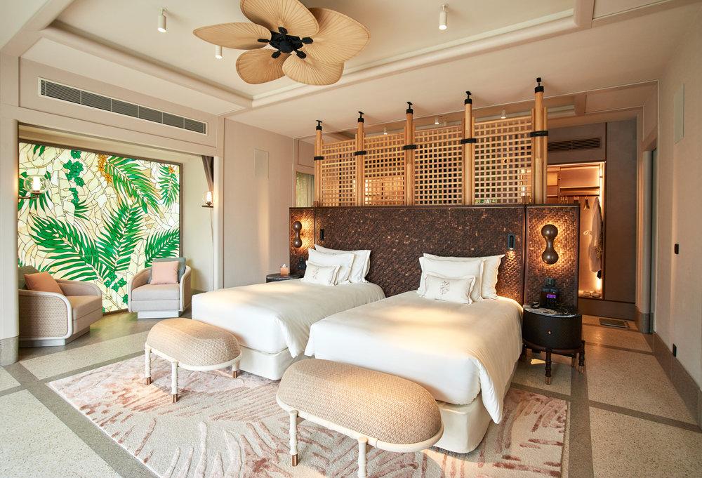 Twin Bedroom in 4 Bedroom Beach Residence  with Pool.jpg