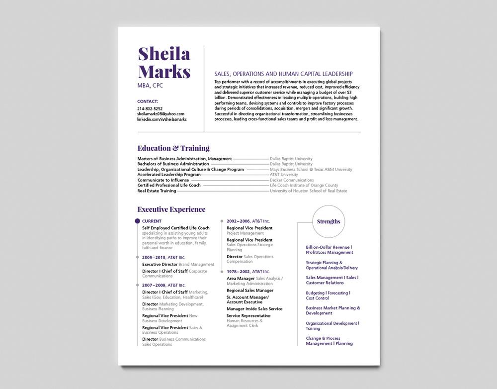 Sheila Marks Resume — Marria Nakhoda