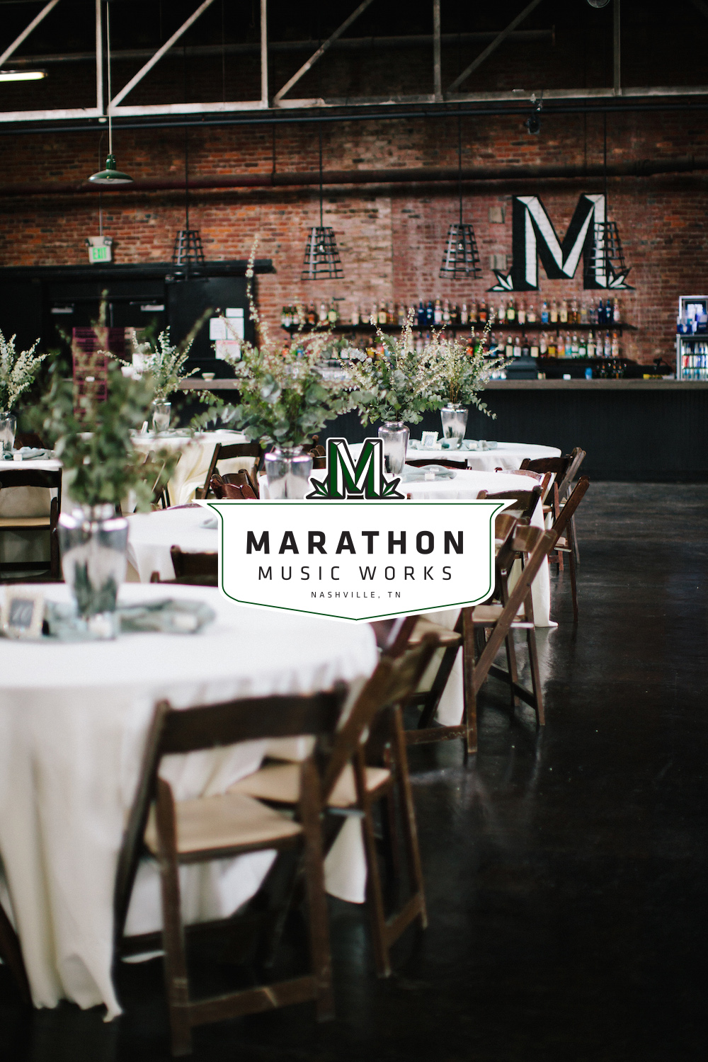 Click  to see more pictures of the Marathon Music Works event space