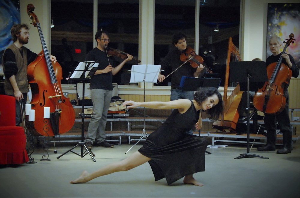 Marisa wtih Solstice musicians.JPG
