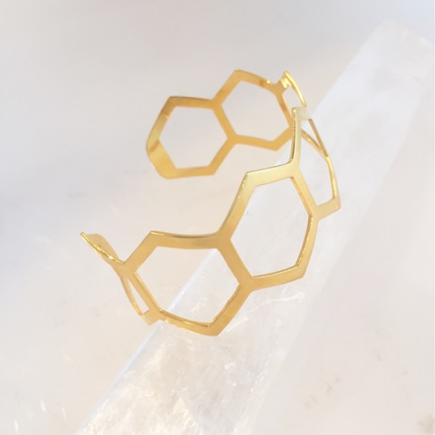 Prize: Hexagon Coherence Cuff 18 kt Gold plated