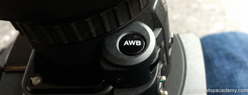 Manual White Balance button on Lens controls on JVC 4K GMY-HMQ10