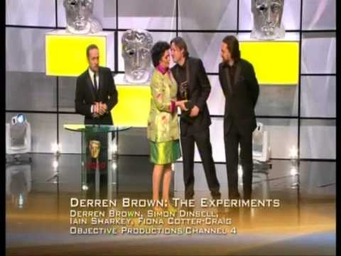 Simon Dinsell wins Bafta for Derren Brown 'Experiments'