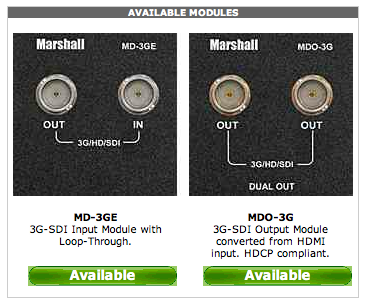 marshall monitor modules