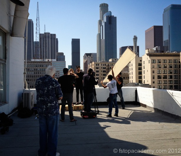 On location in Downtown LA