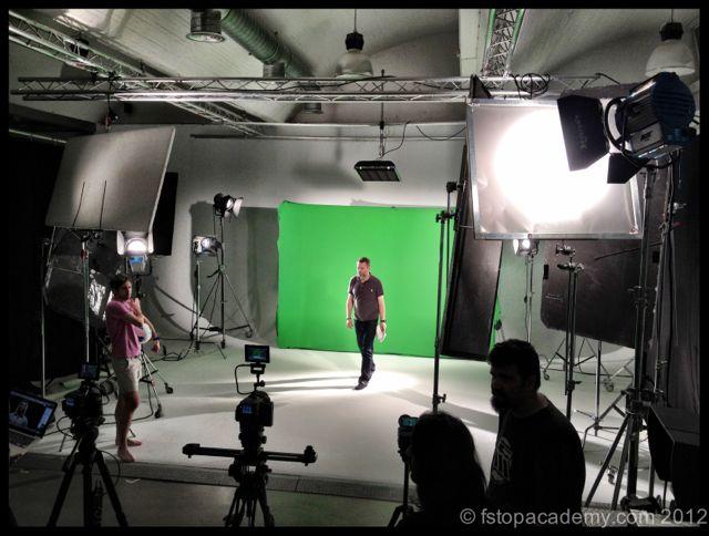 A green screen shoot Den Lit with Bruce's advice
