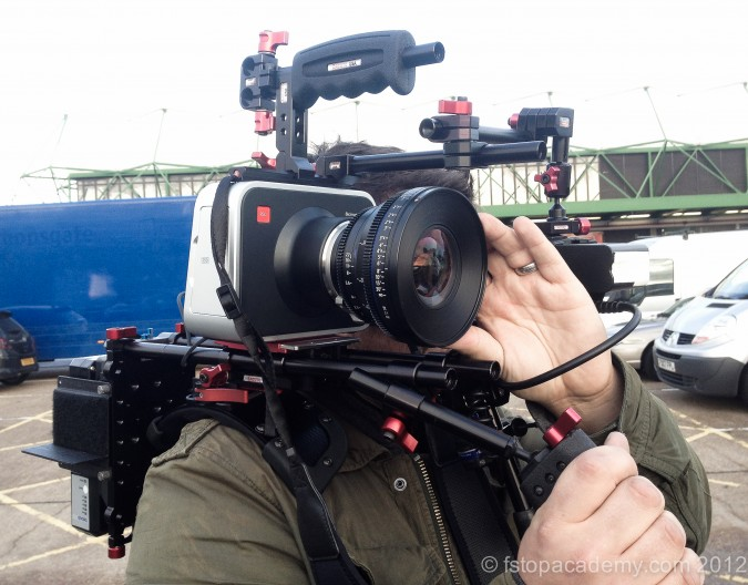 BMCC hand held with Zeiss CP2 on custom Zacuto Rig
