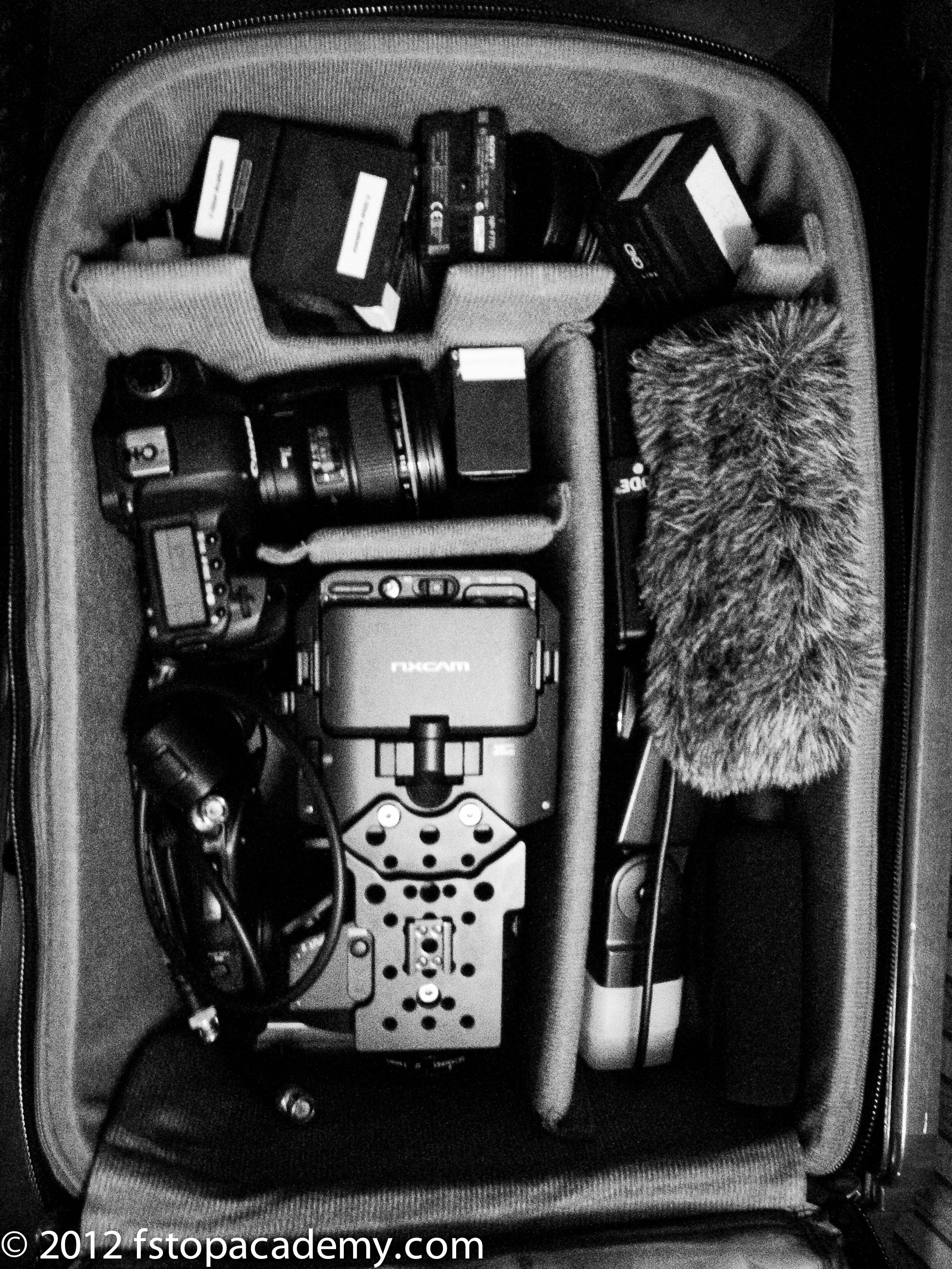 Gear packed in Airport International