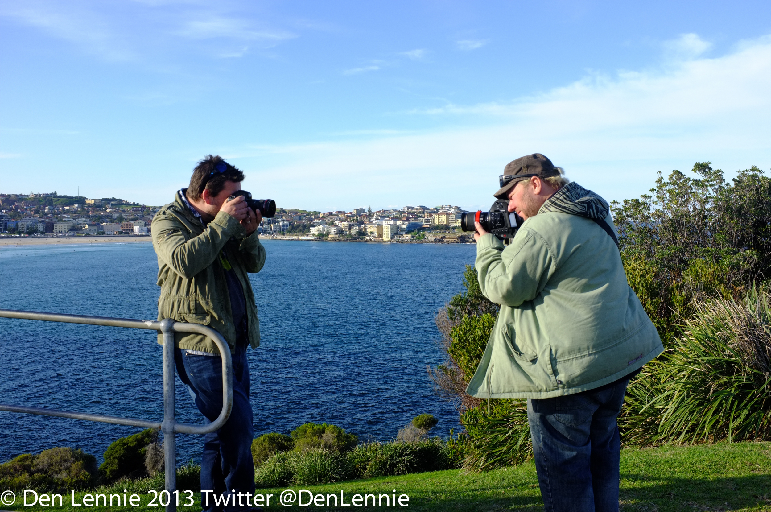 Den & Mick shooting in Sydney