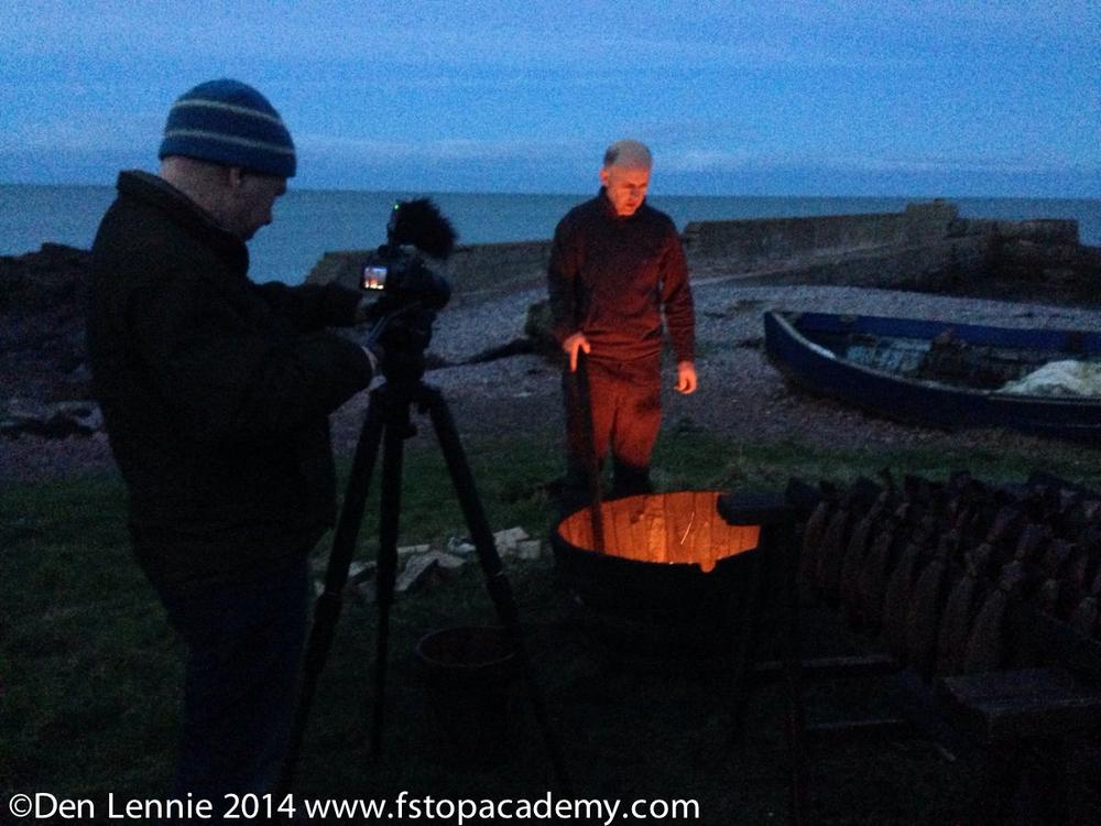 Drew Gardner shooting on Alpha 7s at dusk