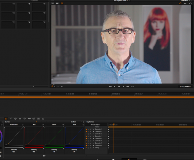 DaVinci Resolve Node 2 - adjust curves