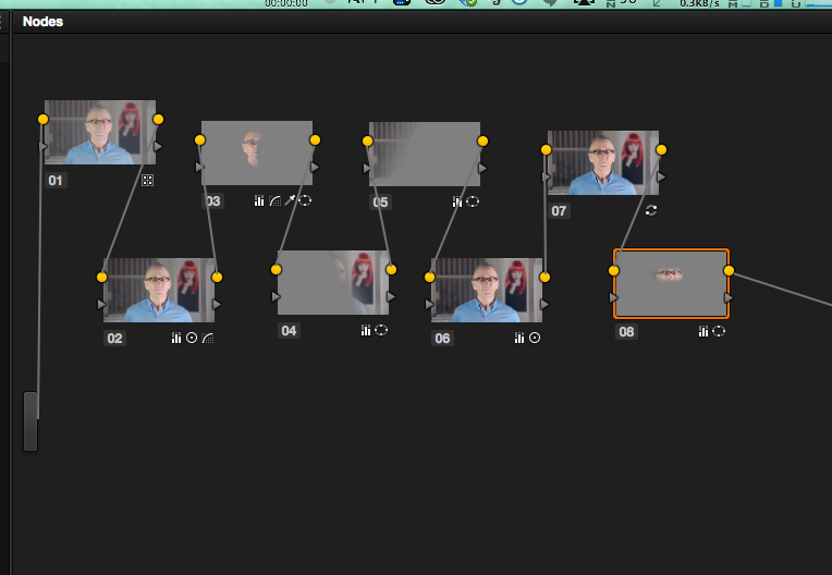 Node tree in DaVinci resolve