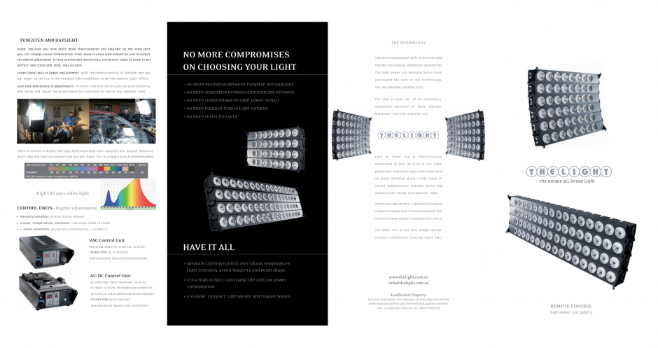 The Light 4long spec sheet