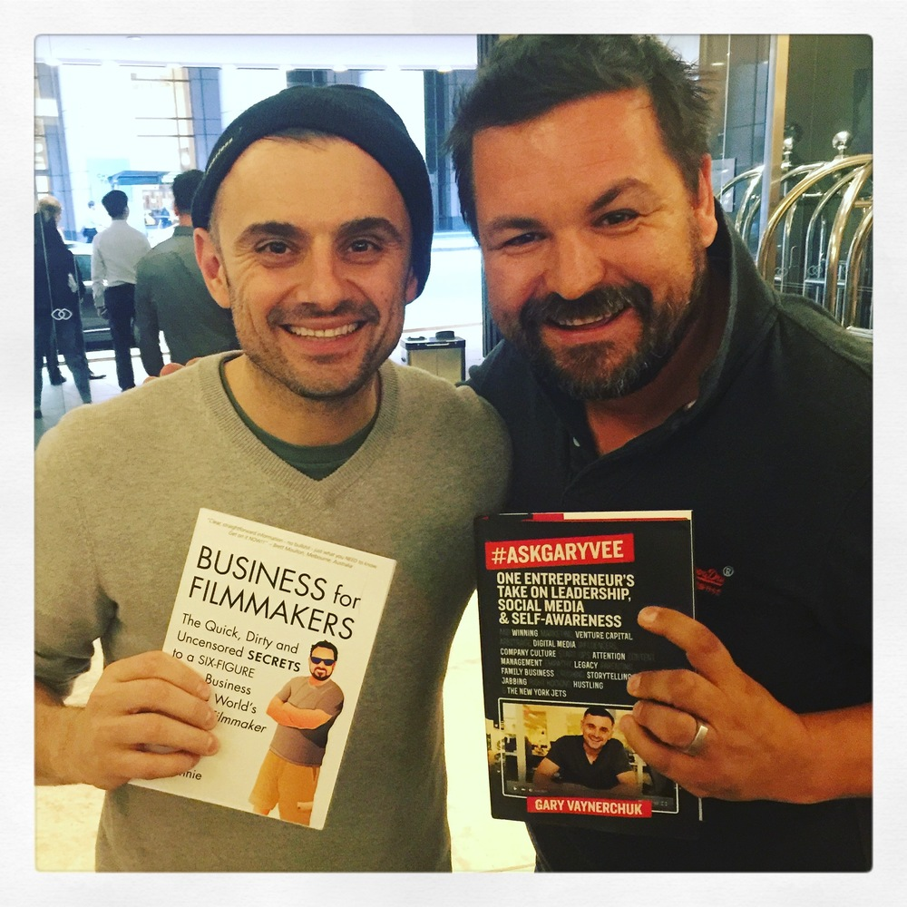 Video Producer &  Author Den Lennie shares a moment with Entrepreneur Gary Vaynerchuk
