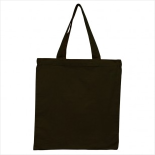 Black - 6oz Basic Tote 15x16