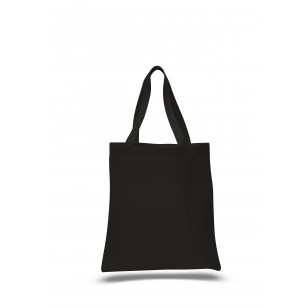 "Black - 12oz Heavy Duty Basic Tote 15""x16"""