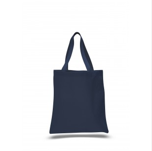 "Navy - 12oz Heavy Duty Basic Tote 15""x16"""