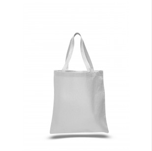 "White - 12oz Heavy Duty Basic Tote 15""x16"""