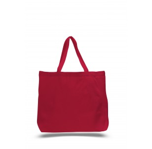 "Red - 12oz Jumbo Tote 20""x15""x5"""