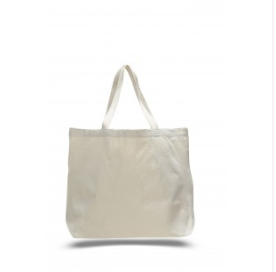"Natural - 12oz Jumbo Tote 20""x15""x5"""
