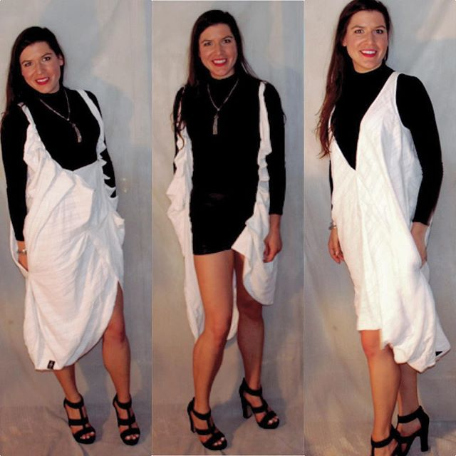3 ways to wear it...but I love it open with my high-waisted stretch leather shorts. SIEDLEL hand pleated jacket-dress with stretch leather shorts. #lovethis #thelook #ootd #summerfashion #streetstyle #SIEDLEL #outfitoftheday #fashionforward #fashionable #fashiondesigner #whitedress #weariteverywhere #summerstyle #shortshorts #highwaisted #leathershorts