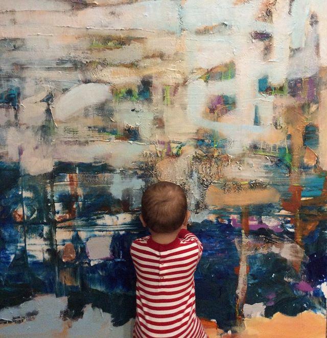 He loves art...