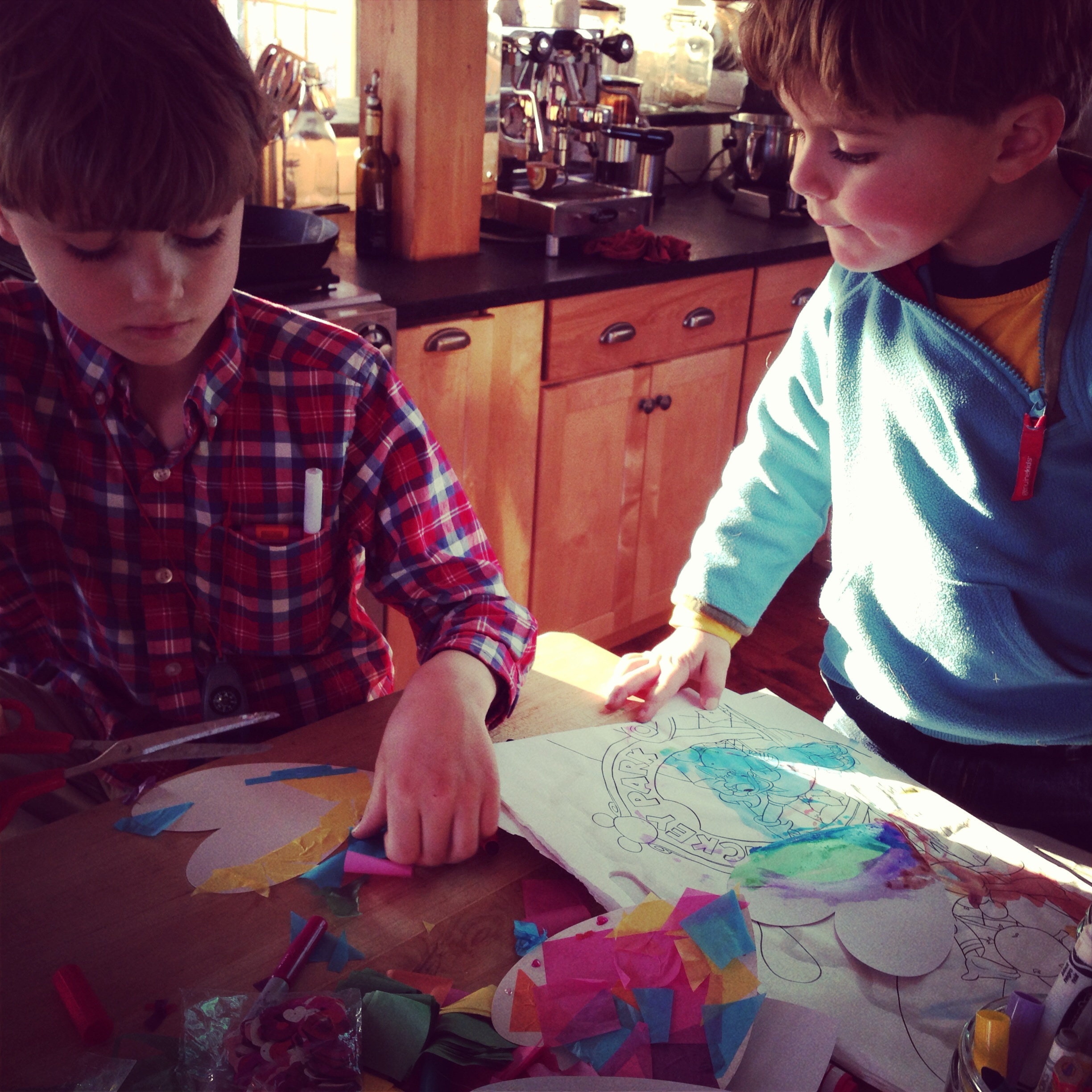 Boys Making Valentines - Christina Rosalie