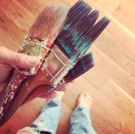 Brushes + Paint | by Christina Rosalie