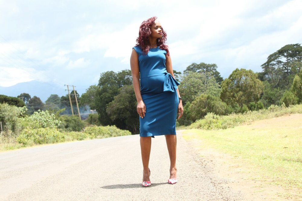 'Leave while you can' says Wanja Ngiri who left an abusive toxic relationship and has now embarked on a new path, with a baby on the way, after having put all that behind her.