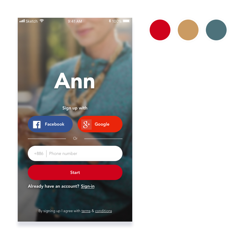Daily UI #1 Sign-in