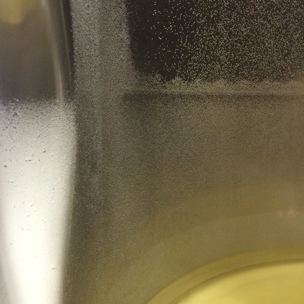 Cold stabilisation encourages tartrate crystals to precipitate out of the wine