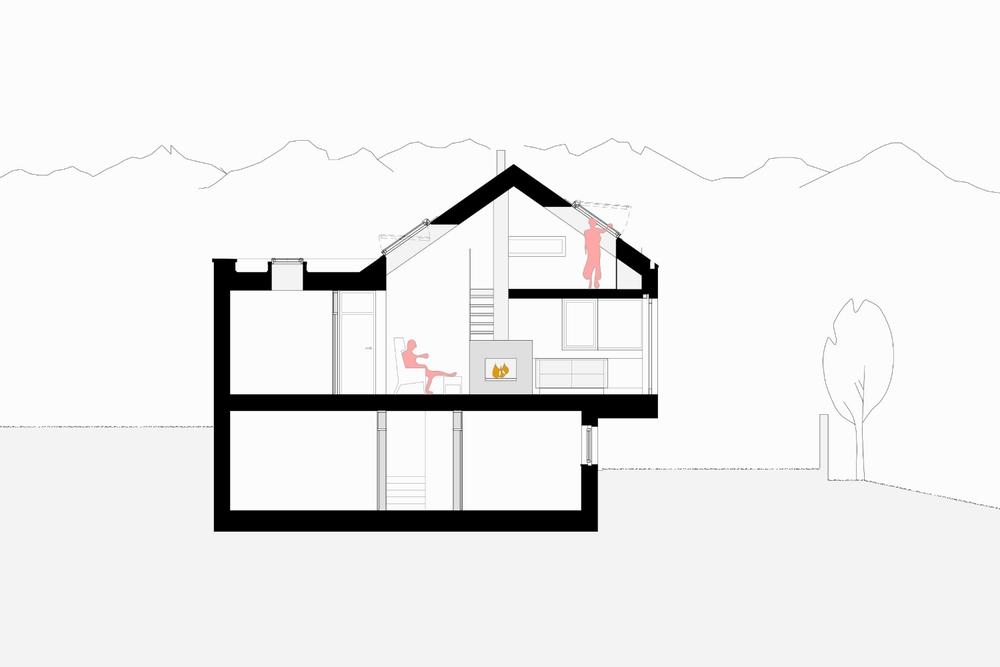 Imst Einfamilienhaus Neubau Schnitt