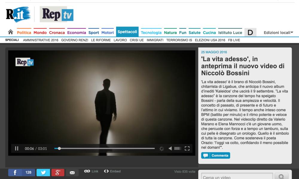 Elena_Mannocci_NIccolò_Bossini_Videoclip_repubblica