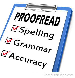 Proof-reading and copy-editing services