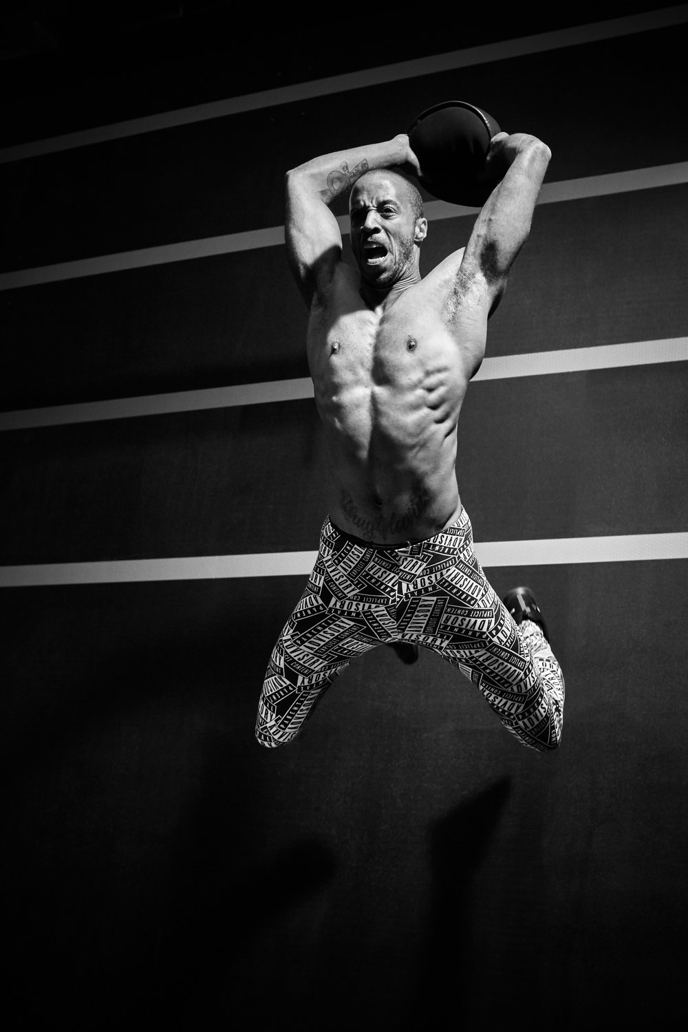 Sports & Fitness Commercial Portraits Gym Box Personal Trainer Flying Slam