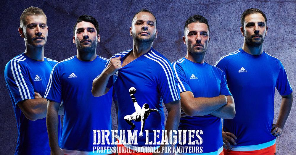 Sports & Fitness Dream League Blue Professional Football Photoshoot