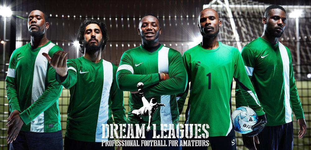 Sports & Fitness Dream League Green Professional Football Photoshoot