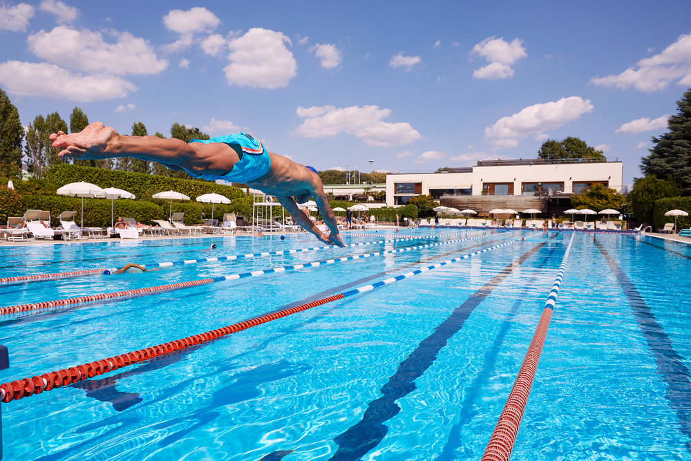 Sports & Fitness Wellbeing Commercial Photographer Aspria Wellness Milano Swimming Pool