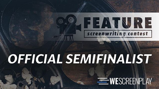 Yeah! We made the semi finals of the WeScreenplay comp with Roger feature film script!! #script #comedy #winning