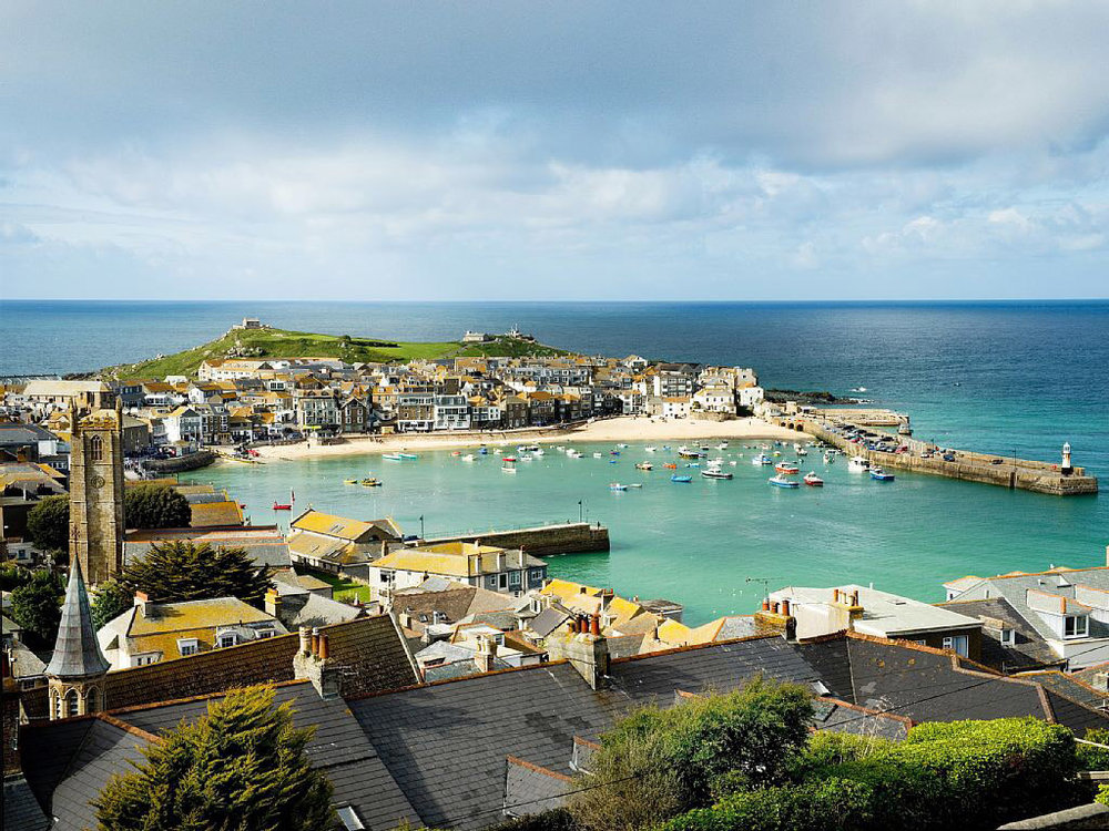 The Harbour at St. Ives where much of the story takes place.