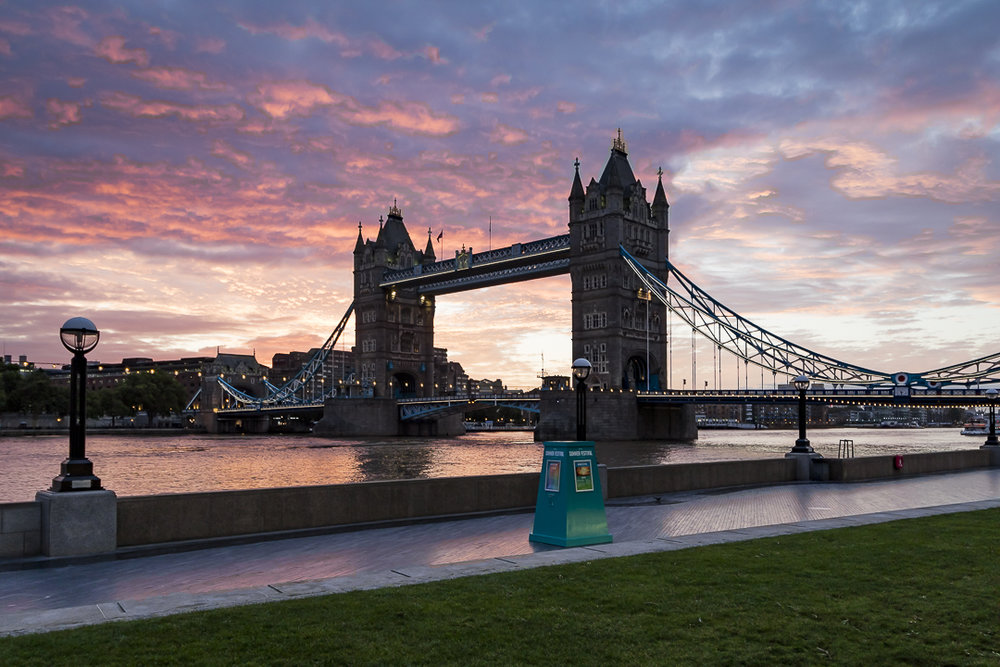 Such a beautiful sunrise at Tower Bridge