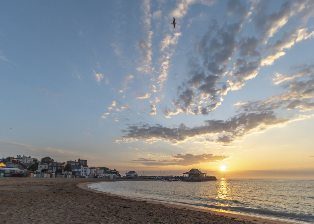 Sunrise at Viking Bay, Broadstairs