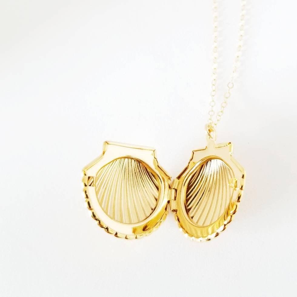 Seashell Locket Necklace — Rockaway Gypsea