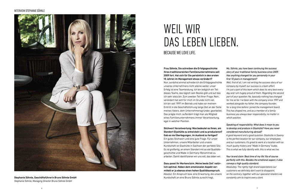 Haar und Make Up Styling für das Porträt einer Unternehmerin