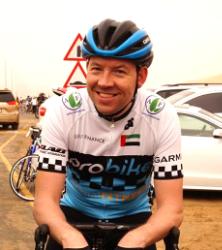 Adrian at the 2016 Liwa Cycle Challenge