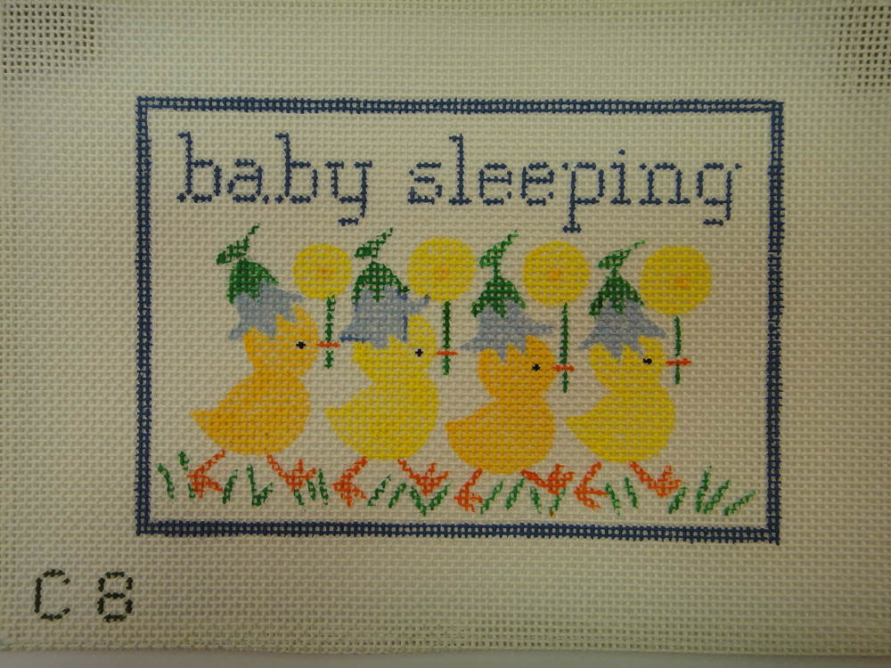 S21A Baby Sleeping with Ducks, Blue (7x5)