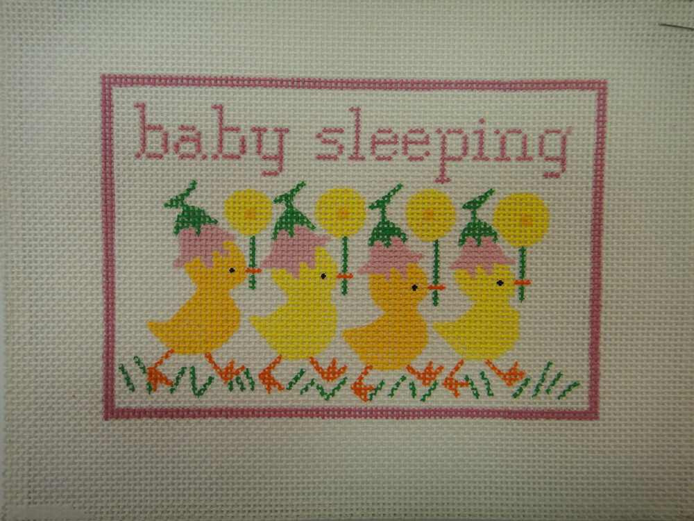 S21B Baby Sleeping with Ducks, Pink (7x5)