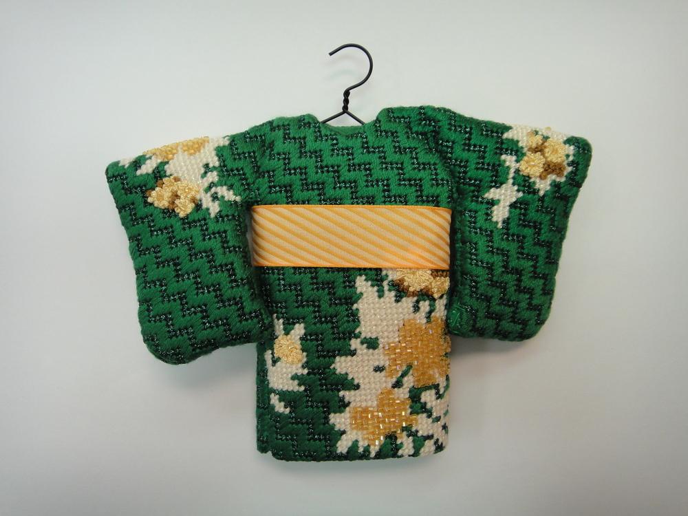 To110 Green Kimono, back