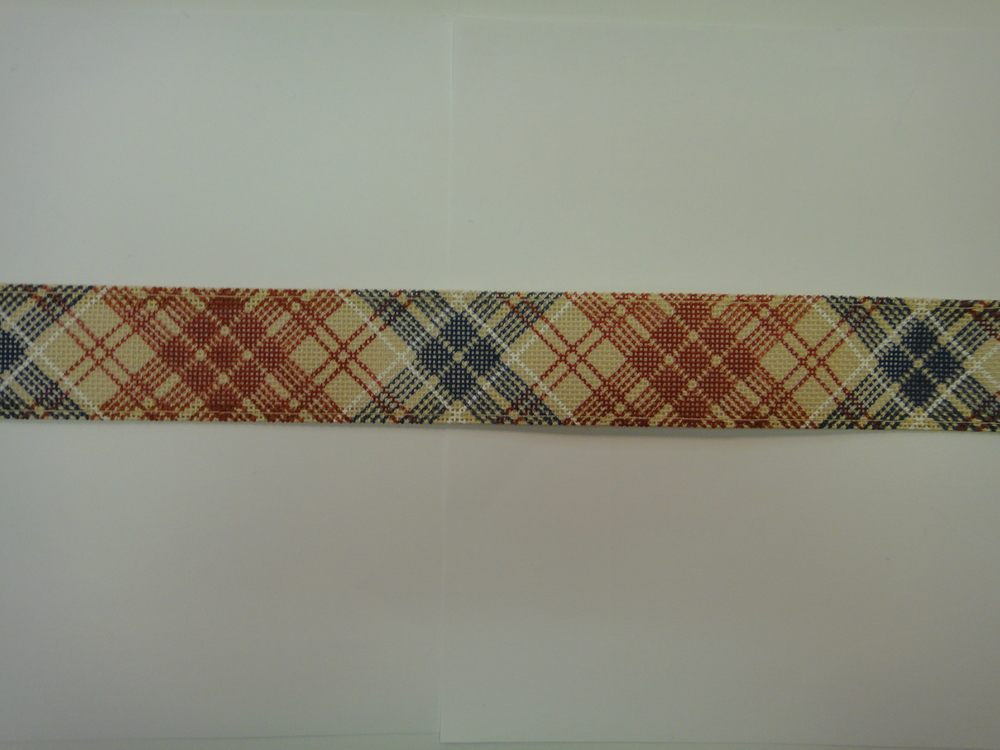 B36C Diagonal Plaid - Red/Blue, tan